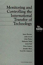 Monitoring and controlling the international transfer of technology