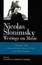 Nicolas Slonimsky : writings on music
