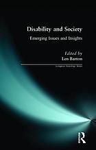 Disability and society : emerging issues and insights
