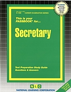 Secretary I : test preparation study guide, questions & answers