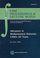 Advances in mathematical sciences--CRM's 25 years