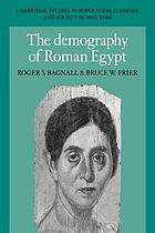 The demography of Roman Egypt