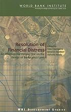Resolution of financial distress : an international perspective on the design of bankruptcy laws