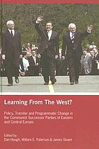 Learning from the West? : policy transfer and programmatic change in the communist successor parties of Eastern and Central Europe
