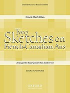 Two sketches for string-quartet based on French Canadian airs