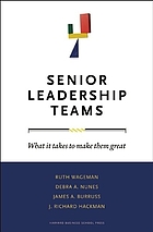 Senior leadership teams : what it takes to make them great