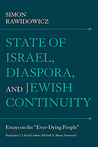 "State of Israel, diaspora, and Jewish continuity : essays on the ""ever-dying people"""