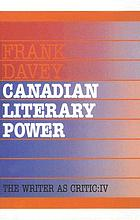 Canadian literary power
