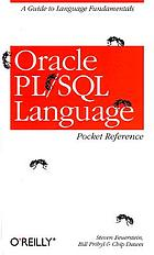 Oracle PL/SQL language : pocket reference
