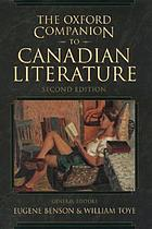 The Oxford companion to Canadian literature