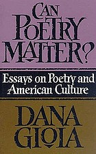 Can poetry matter?