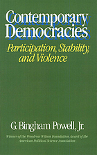 Contemporary democracies : participation, stability, and violence
