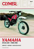 Yamaha XT125-250 singles, 1980-1983 : service, repair, performance