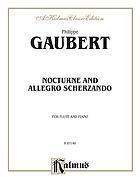 Nocturne and allegro scherzando : for flute and piano