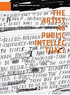 The artist as public intellectual?