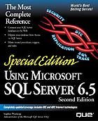 Using Microsoft SQL server 6.5