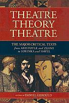 Theatre, theory, theatre : the major critical texts from Aristotle and Zeami to Soyinka and Havel