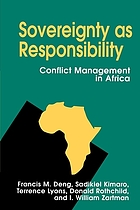 Sovereignty as responsibility : conflict management in Africa