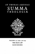 The Old Law (Ia2ae. 98-105)