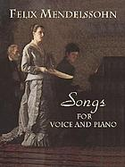 Songs for voice and piano : 79 works