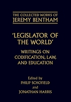 Legislator of the world writings on codification, law, and education