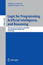 Logic for programming, artificial intelligence, and reasoning 14th international conference, LPAR 2007, Yerevan, Armenia, October 15-19, 2007 : proceedings