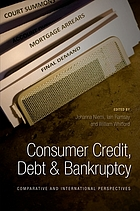 Consumer credit, debt and bankruptcy : comparative and international perspectives