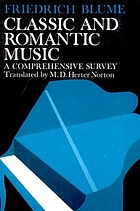 Classic and romantic music : a comprehensive survey