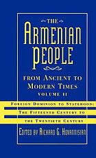 The Armenian people from ancient to modern times
