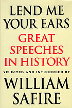 Lend me your ears : great speeches in history