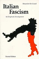 Italian fascism : its origins & development