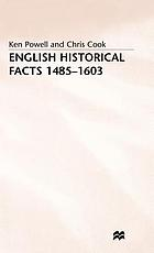 English historical facts, 1485-1603