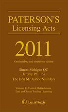 Paterson's licensing acts 2011