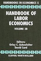 Handbook of labor economics