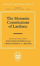 The monastic constitutions of Lanfranc