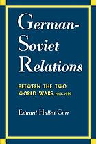 German-Soviet relations between the two World Wars, 1919-1939