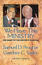 We have this ministry : the heart of the pastor's vocation