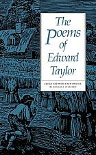 The poems of Edward Taylor