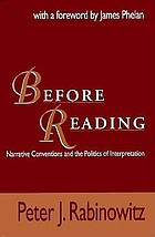 Before reading : narrative conventions and the politics of interpretation