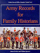 Army records for family historians