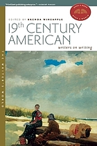 Nineteenth-century American writers on writing