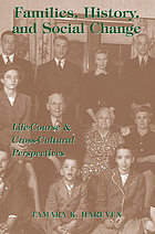 Families, history, and social change : life course and cross-cultural perspectives