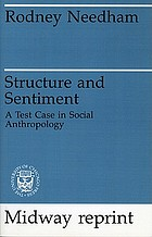 Structure and sentiment; a test case in social anthropology