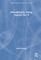 Shostakovich, String quartet no. 8