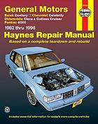 General Motors A-cars automotive repair manual