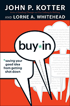 Buy-in : saving your good idea from getting shot down Buy-in : saving your good idea from being shot down
