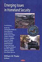 Emerging issues in homeland security