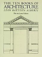 The ten books of architecture : the 1755 Leoni editionTen books on architecture