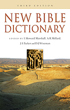 The new Bible dictionary