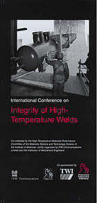 International Conference on Integrity of High-Temperature Welds